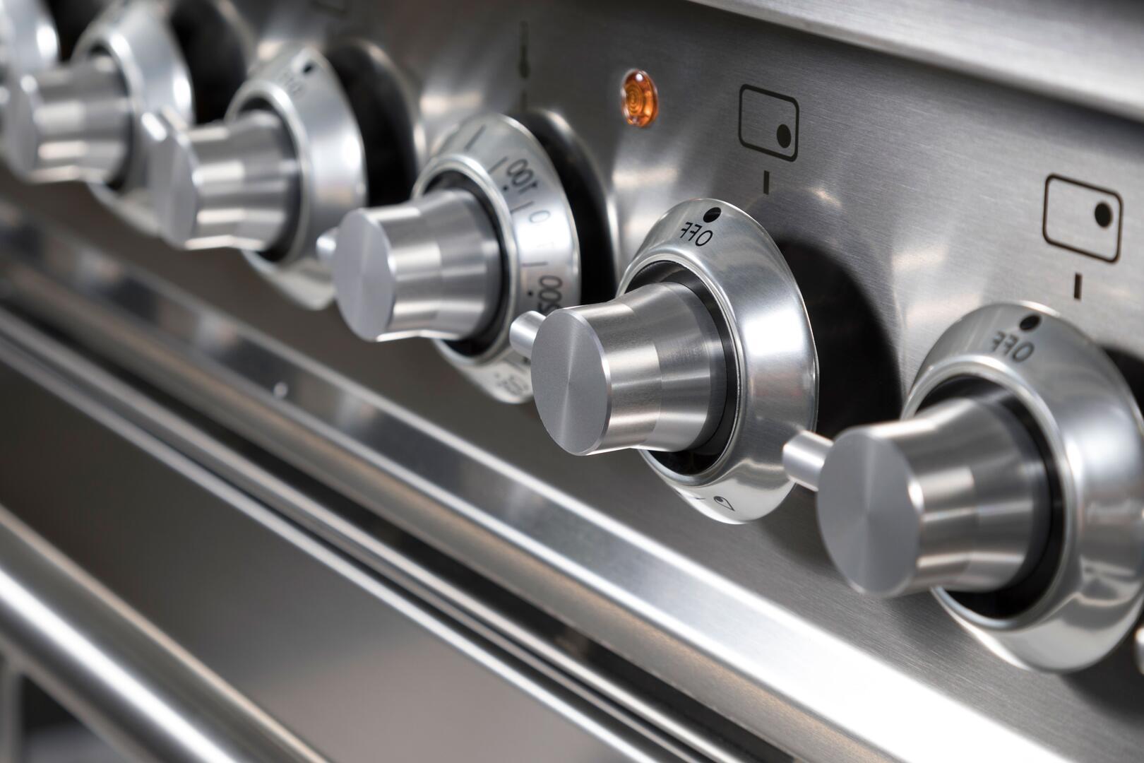 Ilve Professional Plus UPDW90FDMPI Freestanding Dual Fuel Range Stainless Steel, Range Lifestyle