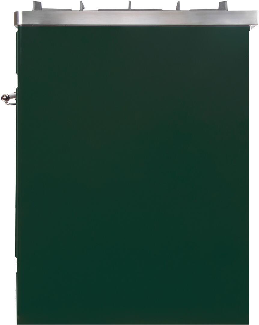 Ilve Majestic II UM30DNE3EGC Freestanding Dual Fuel Range Green, UM30DNE3EGCNG-Right-CD