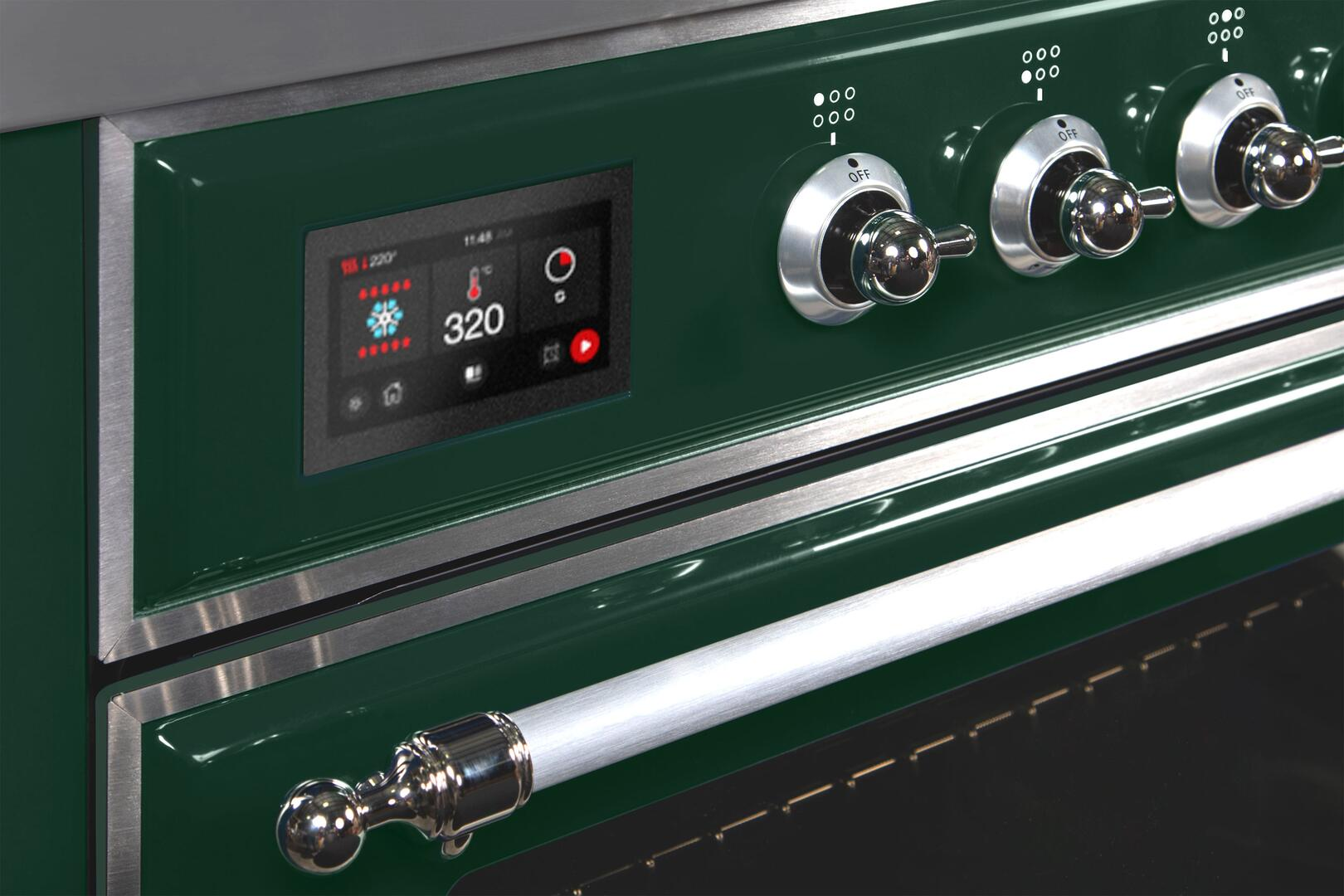 Ilve Majestic II UM30DNE3EGC Freestanding Dual Fuel Range Green, UM30DNE3EGCNG-OtherDetails