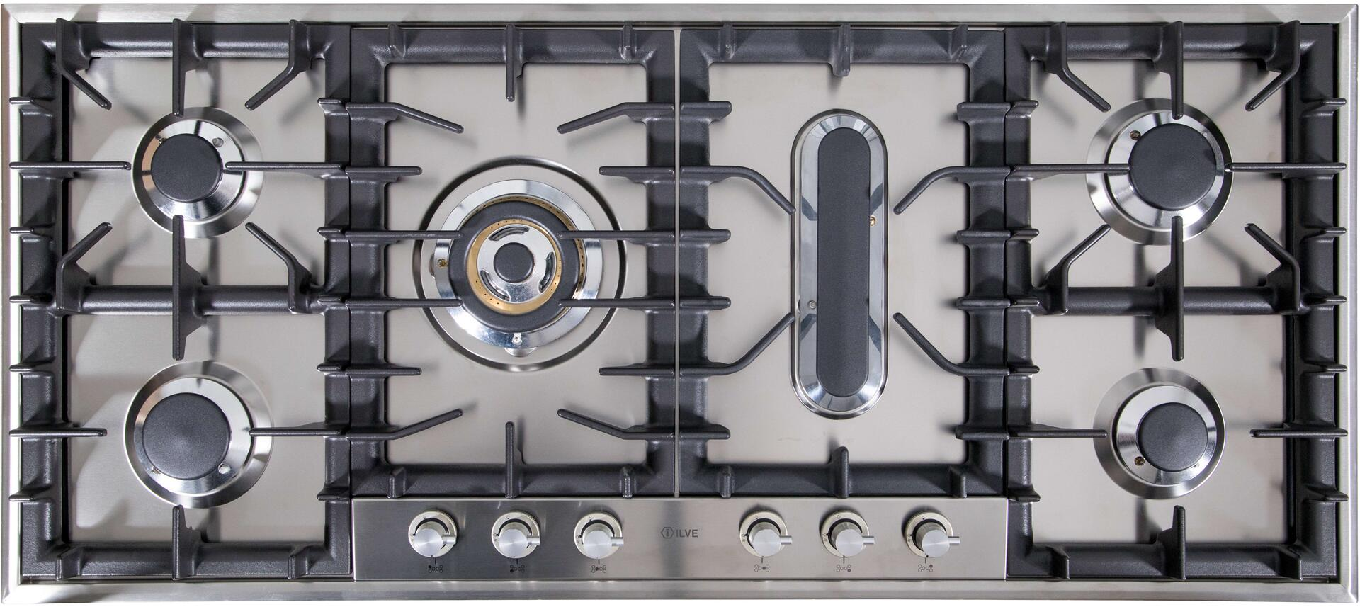Ilve  UHP125FCILP Gas Cooktop Stainless Steel, UHP125FCI Cooktop without Griddle