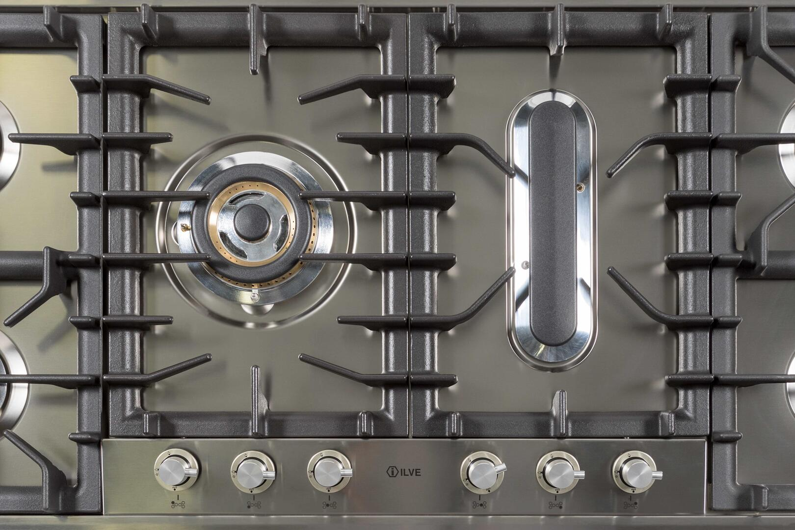 Ilve  UHP125FCILP Gas Cooktop Stainless Steel, 8