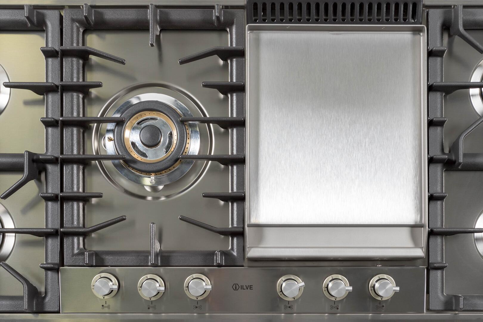 Ilve  UHP125FCILP Gas Cooktop Stainless Steel, 9