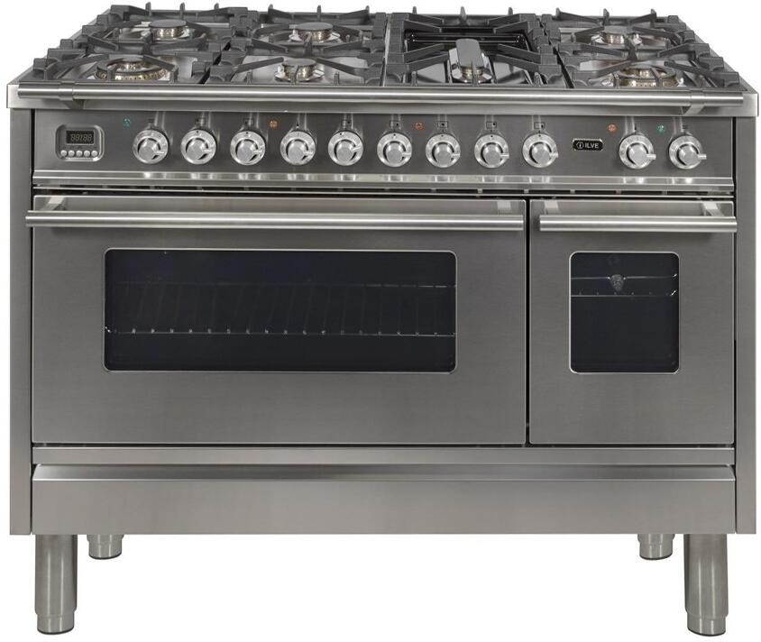 48 Inch Stainless Steel Dual Fuel Convection Freestanding Range
