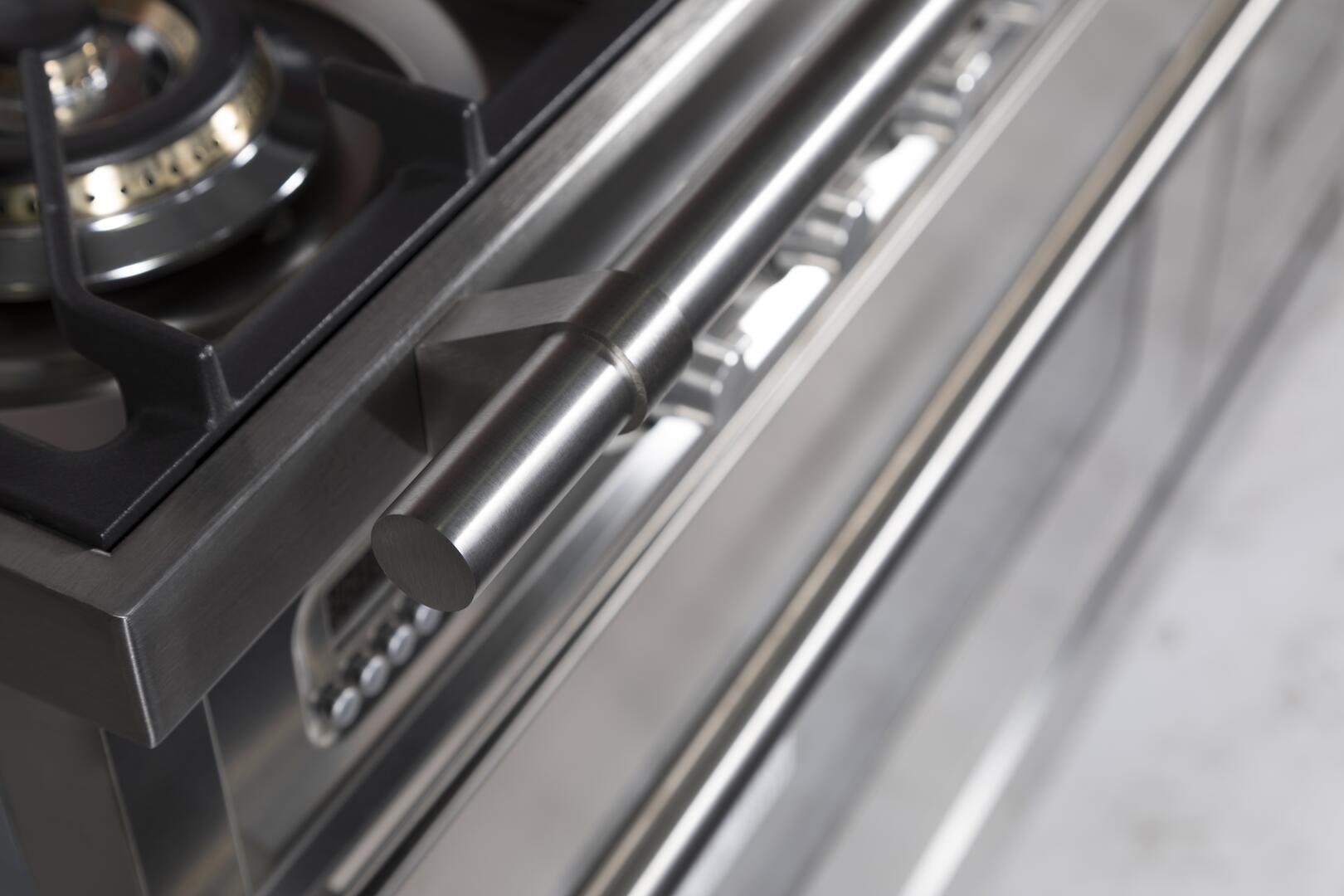 Ilve Professional Plus UPW120FDMPI Freestanding Dual Fuel Range Stainless Steel, Details