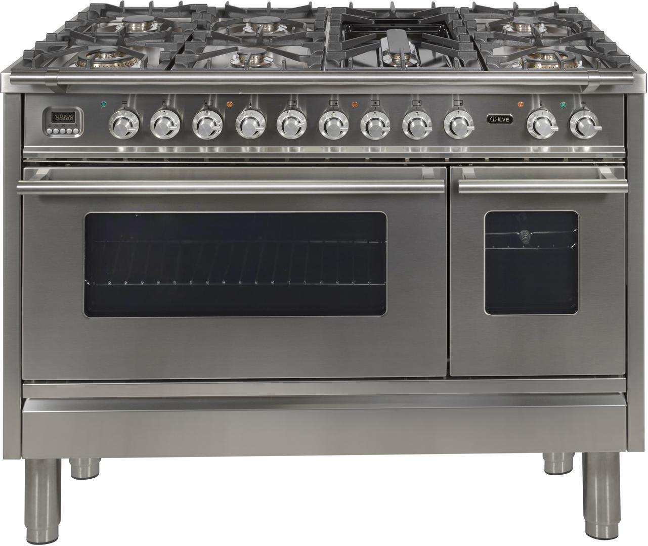 Ilve Professional Plus UPW120FDMPI Freestanding Dual Fuel Range Stainless Steel, Main Image
