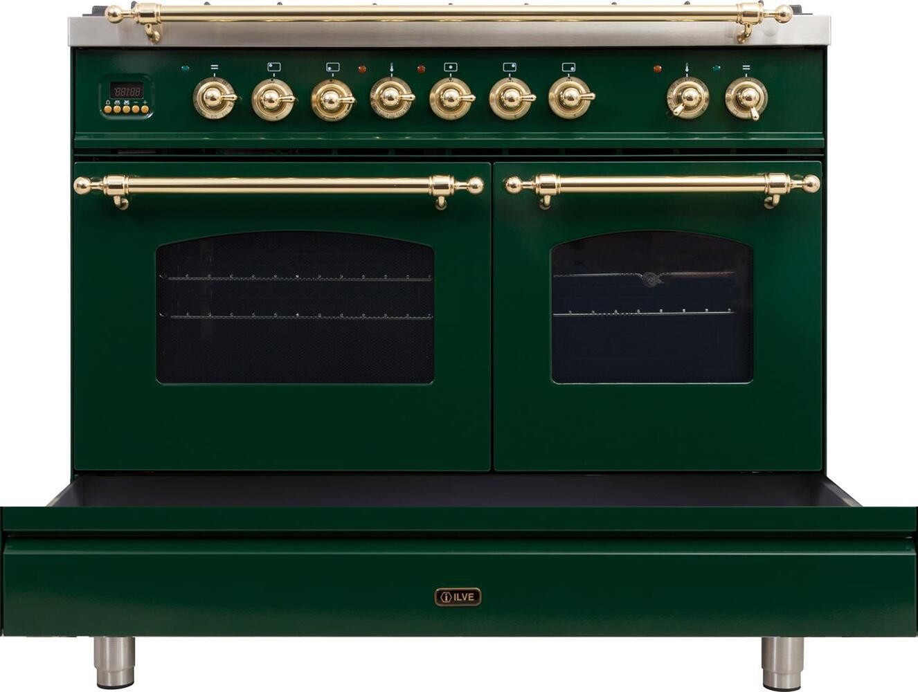 Ilve Nostalgie UPDN100FDMPVSLP Freestanding Dual Fuel Range Green, Untitled 1 es es