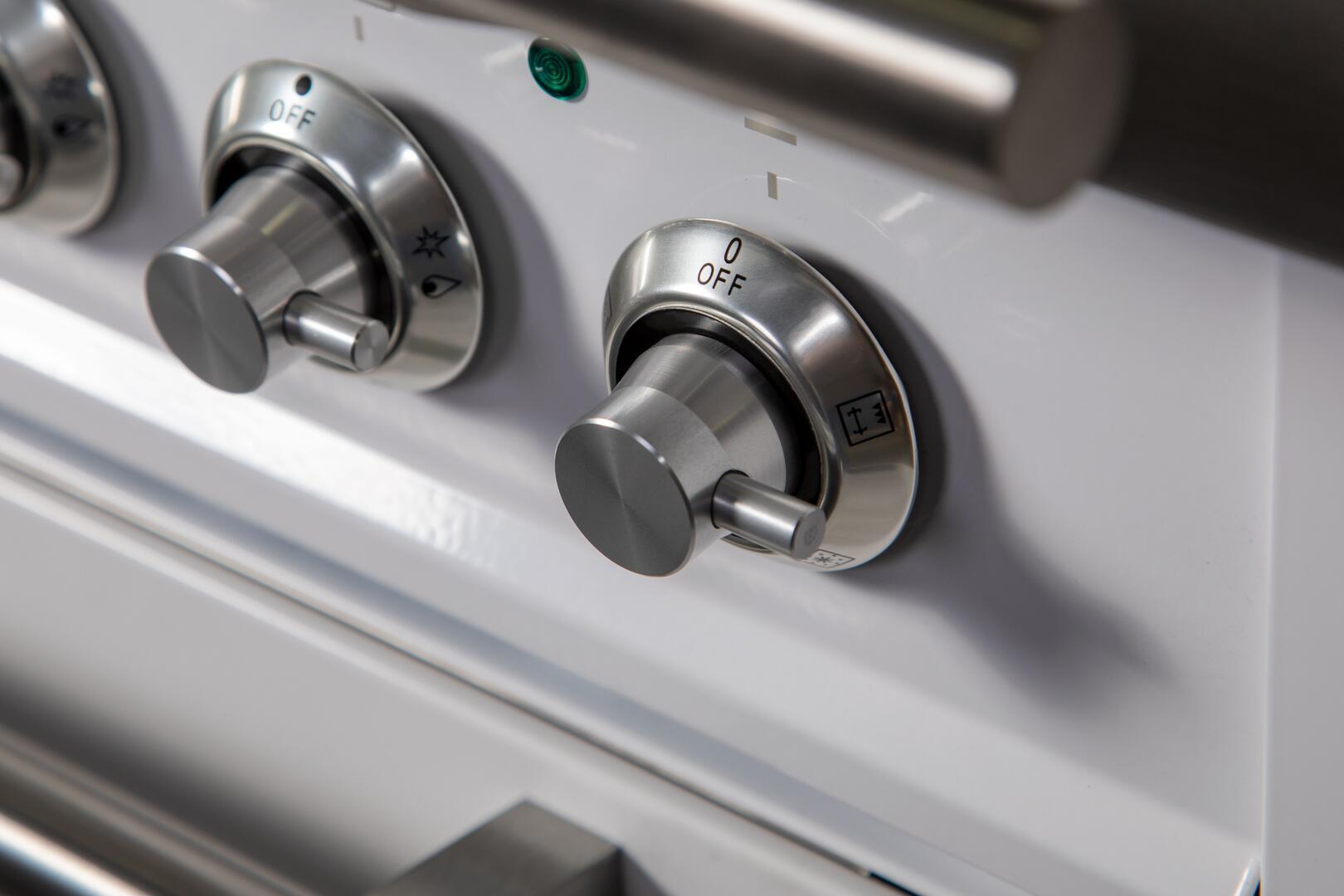 Ilve Professional Plus UPW90FDVGGB Freestanding Gas Range White, UPW90FDVGGB Details