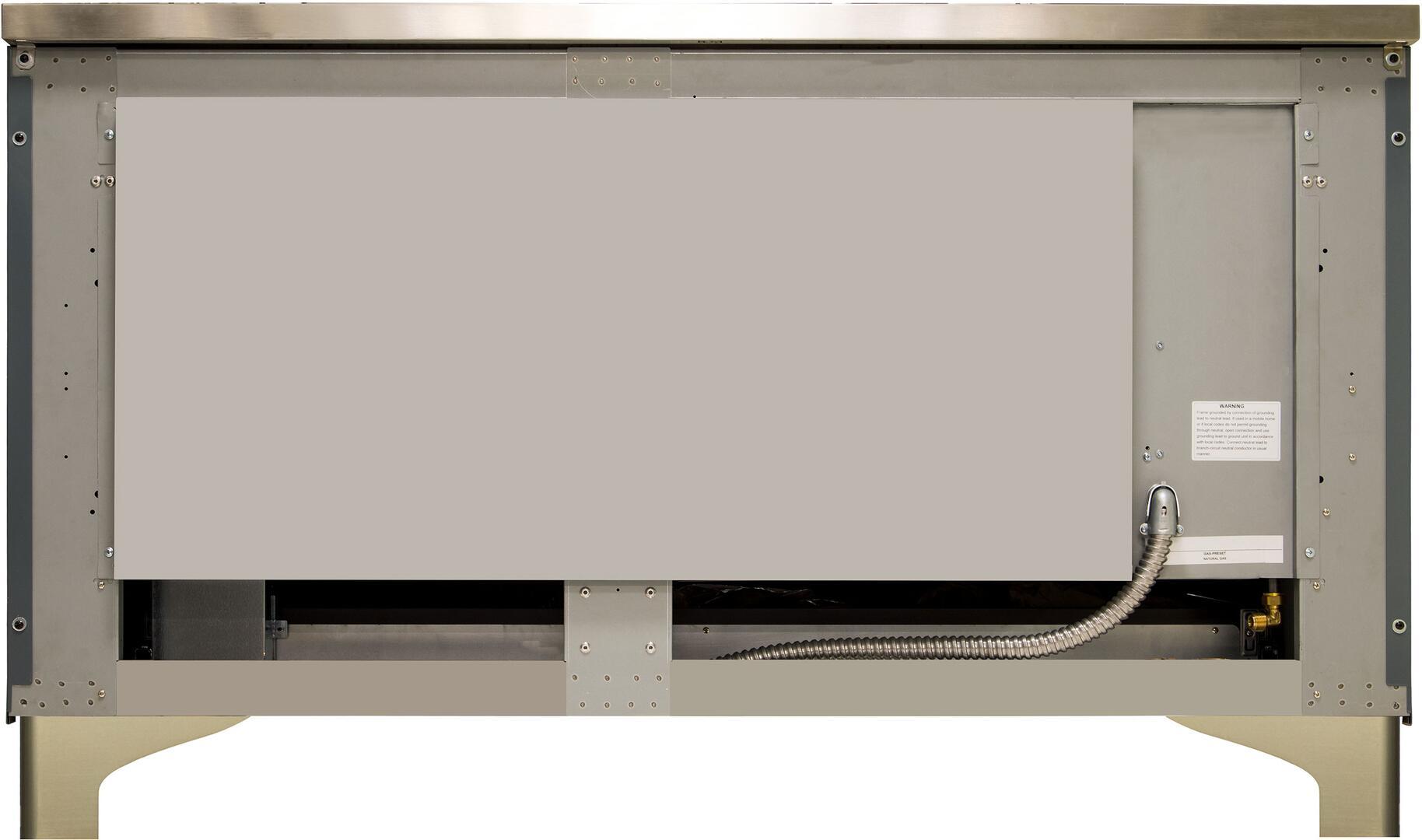Ilve Majestic II UM15FDNS3BGGLP Freestanding Dual Fuel Range Blue Grey, UM15FDNS3GUGLP-Back