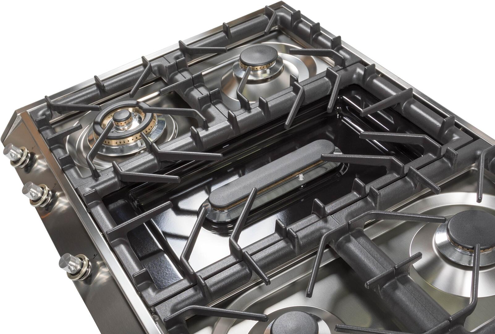 Ilve  UHP965FDILP Gas Cooktop Stainless Steel, 4