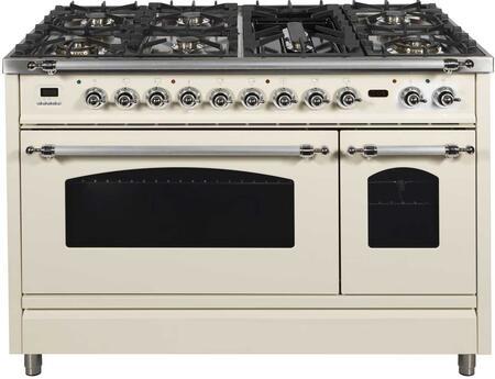 Ilve Nostalgie UPN120FDMPAXLP Freestanding Dual Fuel Range Bisque, UPN120FDMPAX Nostalgie Range