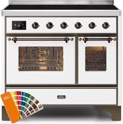 Ilve Majestic II UMDI10NS3RALB Freestanding Electric Range Custom Color, UMDI10NS3RALB-Front-CD-A
