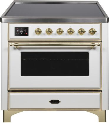 Ilve Majestic II UMI09NS3WHG Freestanding Electric Range White, UMI09NS3WHG-Front-CD-A