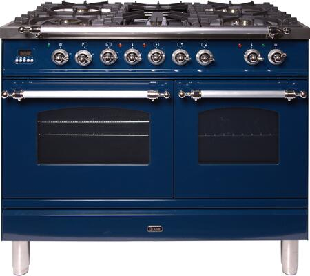 Ilve Nostalgie UPDN100FDMPBLX Freestanding Dual Fuel Range Blue, UPDN100FDMPBLX Dual Fuel Range