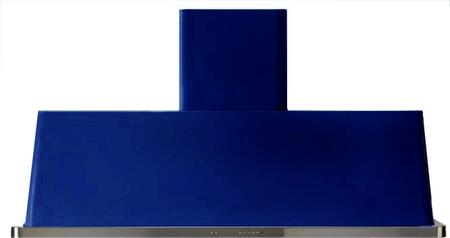 """UAM150BL 60"""" Wall Mount Range Hood with 600 CFM Blower, Anti-grease Filter, 2 Warming Lights, Filter Light Indicator, Auto-off Function, and 4 Fan Speeds: Blue"""