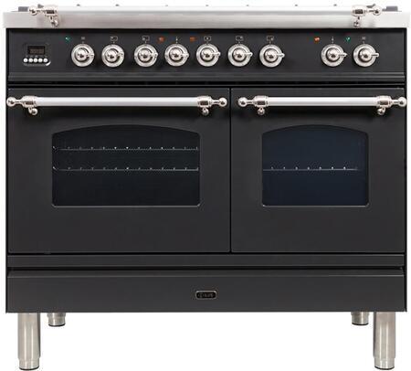 Ilve Nostalgie UPDN100FDMPMX Freestanding Dual Fuel Range Slate, UPDN100FDMPNX Dual Fuel Range