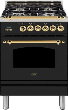 Ilve Nostalgie UPN60DMPM Freestanding Dual Fuel Range Slate, 1