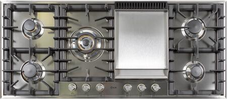 "Ilve  UHP125FCI Gas Cooktop Stainless Steel, UHP125FCI 48"" Cooktop"