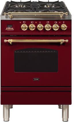 Ilve Nostalgie UPN60DMPRB Freestanding Dual Fuel Range Red, ilve UPN60DMPRB range top