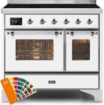 Ilve Majestic II UMDI10NS3RALC Freestanding Electric Range Custom Color, UMDI10NS3RALC-Front-CD-A