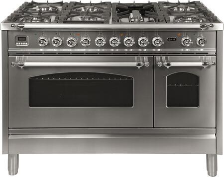 Ilve Nostalgie UPN120FDMPIXLP Freestanding Dual Fuel Range Stainless Steel, UPN120FDMPIXLP Liquid Propane Range
