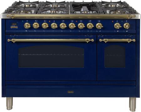 Ilve Nostalgie UPN120FDMPBL Freestanding Dual Fuel Range Blue, UPN120FDMPBL Dual Fuel Range