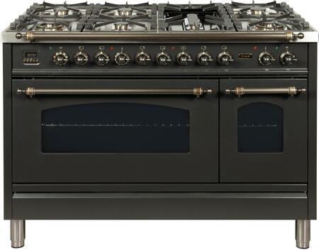 Ilve Nostalgie UPN120FDMPMY Freestanding Dual Fuel Range Slate, UPN120FDMPMY Dual Fuel Range