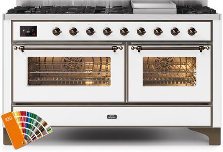 Ilve Majestic II UM15FDNS3RALBLP Freestanding Dual Fuel Range Custom Color, UM15FDNS3RALBLP-Front-CD-A