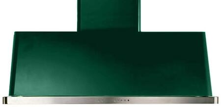 """UAM120VS 48"""" Wall Mount Range Hood with 600 CFM Blower, Anti-grease Filter, 2 Warming Lights, Filter Light Indicator, Auto-off Function, and 4 Fan Speeds: Emerald Green"""