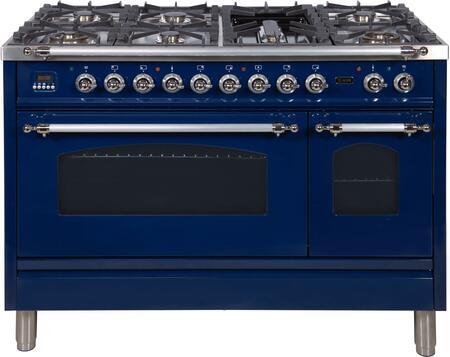Ilve Nostalgie UPN120FDMPBLXLP Freestanding Dual Fuel Range Blue, UPN120FDMPBLXLP Liquid Propane Range