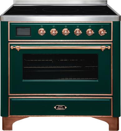 Ilve Majestic II UMI09NS3EGP Freestanding Electric Range Green, UMI09NS3EGP-Front-CD-A