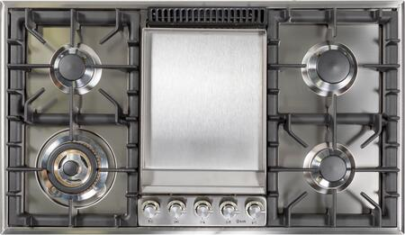 Ilve  UHP95FCILP Gas Cooktop Stainless Steel, UHP95FCI Cooktop