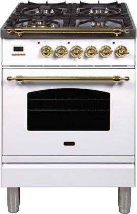Ilve Nostalgie UPN60DMPB Freestanding Dual Fuel Range White, UPN60DMPB Dual Fuel Range