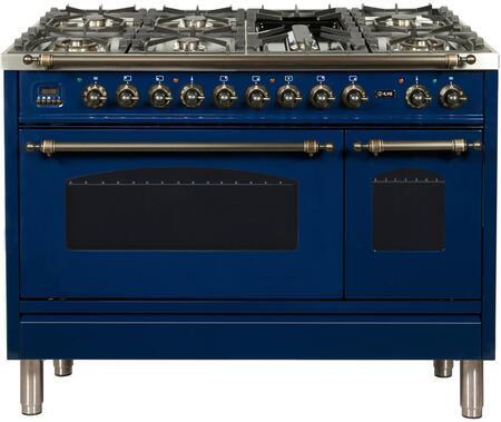 Ilve Nostalgie UPN120FDMPBLY Freestanding Dual Fuel Range Blue, ILVE UPN120FDMPBLYLP Nostalgie Range