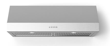 Forte Lucca LUCCA40 Under Cabinet Hood Stainless Steel, Main Image