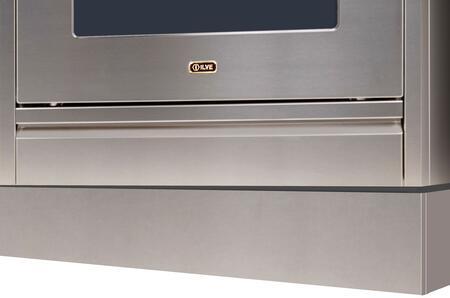 Ilve  APZ90140I Toe Kick Stainless Steel, Stainless Steel toe Kick
