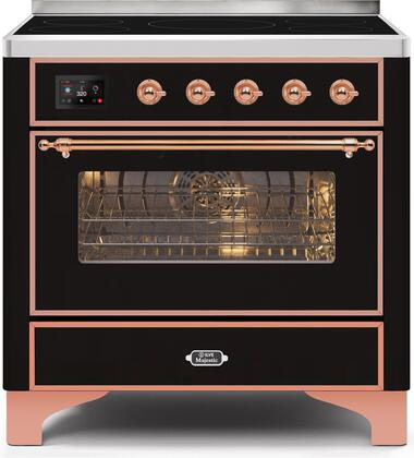 Ilve Majestic II UMI09NS3BKP Freestanding Electric Range Black, UMI09NS3BKP-Front-CD-A