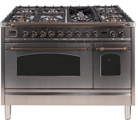 Ilve Nostalgie UPN120FDMPIY Freestanding Dual Fuel Range Stainless Steel, ILVE upn120fdmpiy Range top