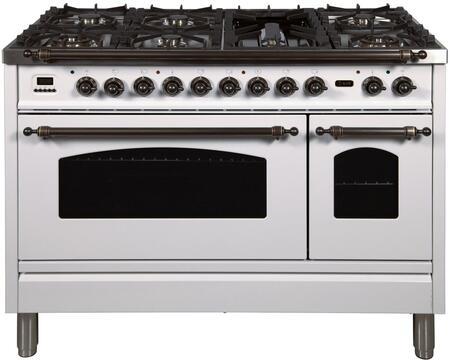 Ilve Nostalgie UPN120FDMPBY Freestanding Dual Fuel Range White, UPN120FDMPBY