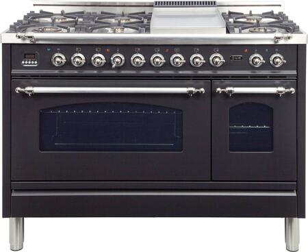 Ilve Nostalgie UPN120FDMPMX Freestanding Dual Fuel Range Slate, UPN120FDMPMX Dual Fuel Gas Range
