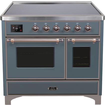 Ilve Majestic II UMDI10NS3BGB Freestanding Electric Range Blue Grey, Blue Grey Induction Range
