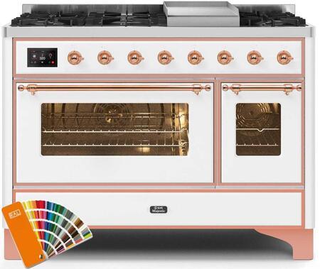 Ilve Majestic II UM12FDNS3RALP Freestanding Dual Fuel Range Custom Color, UM12FDNS3RALPNG-Front-CD-A