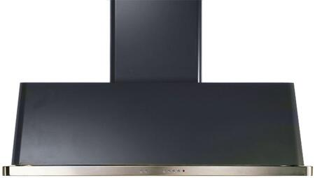 """UAM150M 60"""" Wall Mount Range Hood with 600 CFM Blower, Anti-grease Filter, 2 Warming Lights, Filter Light Indicator, Auto-off Function, and 4 Fan Speeds: Matte Graphite"""