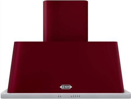 Ilve Majestic UAM90BU Wall Mount Range Hood Red, UAM90BU Majestic Wall Hood