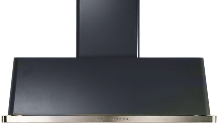 "UAM150M 60"" Wall Mount Range Hood with 600 CFM Blower, Anti-grease Filter, 2 Warming Lights, Filter Light Indicator, Auto-off Function, and 4 Fan Speeds: Matte Graphite"