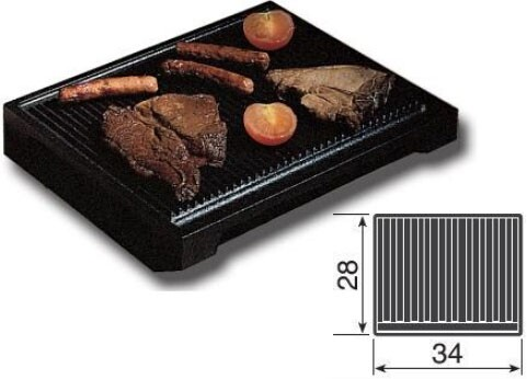 A/006/02 Large Ribbed Cast Iron Steak Grill Pan